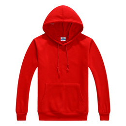 Wholesale Autumn and winter youth Multicolor Hooded hoodies men thick fleece cotton men s sportswear jogger hoodies man female