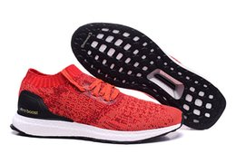 Wholesale High Quality New Mens Kids Original Ultra Boost Uncaged Triple Red Shoes Fashion Running Shoes