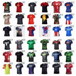 Wholesale 52styles t shirt Deadpool Batman spider man captain America Hulk Iron Man t shirt The Avengers d t shirts for men t shirts BY DHL