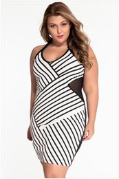 Wholesale Plus Size Women Sexy Lingerie Elastic Stripe Sleeveless One Piece Mesh Halter Short Dress Night Club Nightwear Intimates