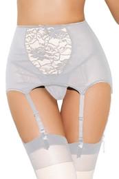 Wholesale hook eye back sexy lingerie women underwear lace mesh garter belt with straps for stocking White Black Red Size XXXL XXXXL