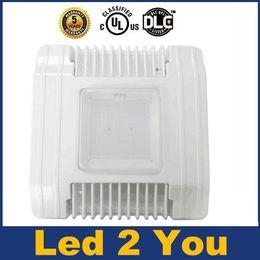 UL Aprobado DLC Led Techo cabina Luces de 60W 100W 130W 150W llevó los reflectores impermeable al aire libre luces de inundación del LED 100-277V ac
