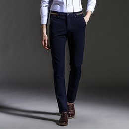 Discount Mens Casual Slim Dress Pants | 2017 Mens Casual Slim ...
