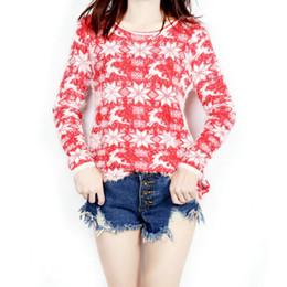 Ladies Snowflake estilo navideño reno suéter Small lana sudadera para las mujeres con sueltos grandes yardas suéteres largos