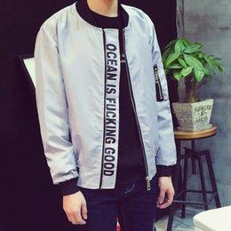 Wholesale Hi Street Mens FashionYeezy Bomber Jacket Black And Gray Military Style MA1 Casual Hip Hop Kanye West Jacket Men