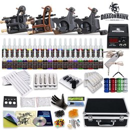 Wholesale Tattoo Kit Top Machine Gun Color Ink Power Supply Needle Complete D139GD