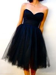 Wholesale 2016Vintage Real Image Dark Navy Tea Length Tulle Bridesmaid Dresses maid of honor Dresses Corset Prom Party Dresses under with Lace u