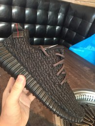 Wholesale Adidas Originals YEEZY BOOST Running Shoes Trainers Shoes Sports Yeezy Sport Shoes Men Women Shoes Pirate Black With Box