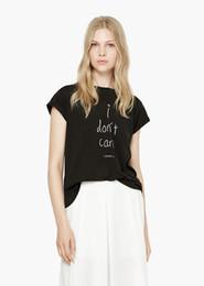Wholesale New Fashion Summer T Shirt Women O Neck Short Sleeve Letter Print Cute Top Cute Women Tee