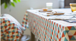 discount table linen designs fresh style table cloths with geometric designs linen material for home use - Discount Table Linens
