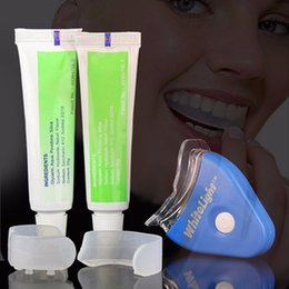 Wholesale Free DHL Personal Oral Hygiene Care Dental Tooth Cleaner Whiten Teeth Whitening Whitener System Whitelight Kit Set With OPP Package