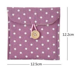 Wholesale Cute Cloth Napkin pouch Fresh Polka Dot linen napkin package Sanitary napkin storage bag pieces pack