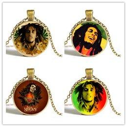 Wholesale Mini commande pc livraison gratuite gros Bob Marley Raggae bijoux mode vintage steampunk rock collier pour femmes hommes garçons filles