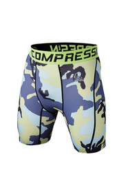 Wholesale Men Camouflage Compression Shorts Men Running Soccer Basketball Training Tights Men Sports Gym Shorts
