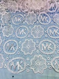 Wholesale nigeria lace cord lace fabric embroidered african guipure lace for wedding party QL001 white