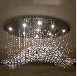 factory priceoval curtain wave modern chandeliers crystal lamp living room lamp hotel lighting sizel750w300h650mm