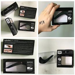 2017 Natal New Hot Maquiagem NYX The Curve Felt Dica líquido Eye Liner cor Jet Black NOVO EM BOX Waterproof