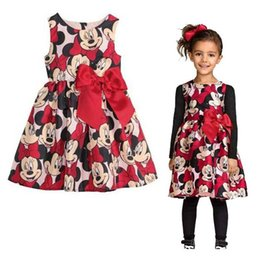 Wholesale 2016 New Summer Mickey baby Girls Dress Tutu Princess Baby Minnie Mouse girls Dress Dot Baby Casual Party Dresss baby Dress