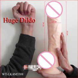 Wholesale adult product sex toy huge dildo with suction long big realistic penis for women big size long dildo dongs