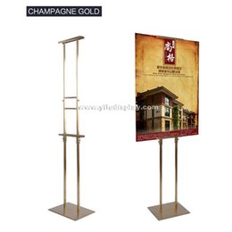 2017 floor standing frames metal poster display stand double side metal floor standing poster display