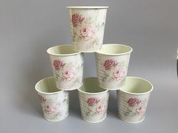 10pcs Centrepiece para festa de casamento de Metal Planter Vaso Tub Pastoral Início decorativa Vasos de flores loja de decoração do partido