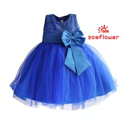online shopping Fashion Beautiful Pageant Dress Shiny Sequined Bow knot Ball Gown Kids Clothes Party Dresses Infantis menina T