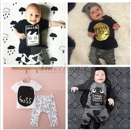 Wholesale Baby Ins Clothing Sets Ins Suits Summer Outfits Fashion Baby Clothes Animal Tops Pants Boys Clothes Boy Clothing Romper Color B377 set