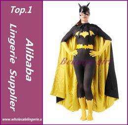 Wholesale La mayor Batgirl Barbara Gordon Cosplay del super héroe Zentai Catsuit del cuerpo completo se adapta a los trajes de Halloween Lycra Spandex Traje