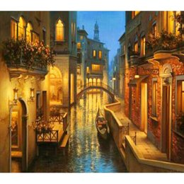 Western Style Home Decor 5d Square Diy Diamond Painting Embroidery Gift Venice Living Room Sticker Gift 25x22cm Hwh 080