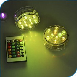Lumière submersible multicolore de 10 lumières de partie de vase de LED Sous-marin imperméable à l'eau avec la commande submersible de télécommande