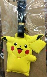 16 Estilos Poke Pikachu Etiqueta de equipaje de silicona Etiqueta de la maleta de viaje Etiqueta de identificación linda del equipaje de identificación de embarque Etiqueta de control LJJP272
