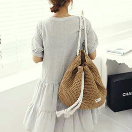 Discount Straw Backpack | 2017 Straw Backpack Handbags on Sale at ...