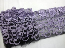 Wholesale New Cording Lace Trims Fabric Light Lavender Purple Embroidery Nylon Mesh Width quot African Fabrics For Cocktail Wedding Dress JIAOLUN