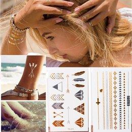 Wholesale 100pcs Temporary Tattoo European cm High Quality Waterproof Flash Metallic Tattoos Gold Jewelry Tattoo