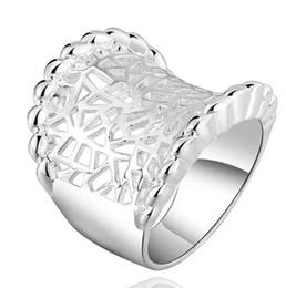 925 sterling silver plated women ring hollow grid beautiful cute pretty luxury christmas fashion new gift wedding pretty woman wedding rings on sale - Wedding Rings On Sale