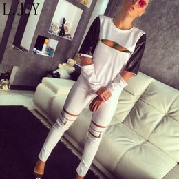 Wholesale Sexy Zippers Top PU Leather Patchwork Tracksuits jogging femme Harajuku Casual Sport Suit Women Sweat Suit