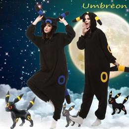 Wholesale Hot Anime Umbreon Onesie Kigurumi Fancy Dress cosplay Costume Hoody Pajamas Sleepwear Size S M L XL
