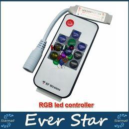 10KEY LED контроллер Mini RF Wireless LED-пульт дистанционного управления Mini диммер для RGB 5050/3528 светодиодные фонари Полоски