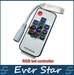 LED Mini Controller 10Key LED RF sans fil télécommande Mini Variateur pour RGB LED Lights 5050/3528 Strips