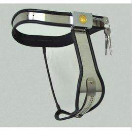 Wholesale M148 bondage novo aço inoxidável feminino lockable ajustável T Type dispositivos de castidade cinto branco preto para escolher brinquedos sexuais para as mulheres