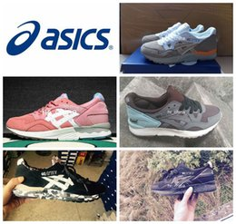 2016 Novas cores Asics Gel Lyte V5 Running Shoes Para Mulheres Homens, leve respirável Athletic Casual Sapatos Sport Tênis Eur Tamanho 36-44