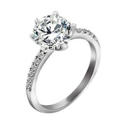 christmas gifts hot sterling silver fashion charm retro beautiful cute pretty crown diamond austria crystal wedding ring jewelry cheap pretty diamond rings - Pretty Wedding Rings