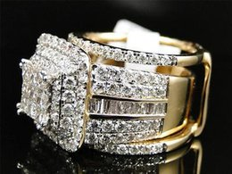 14k yellow gold diamond engagement wedding bridal band ring with jacket 399 ct - Wedding Ring Jackets