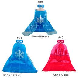 Wholesale Ensemble de manteau de neige de neige nouvelle Caps Anna Cape Flocon de neige gelé Elsa Anna Cape Livraison gratuite
