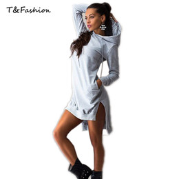 Wholesale Women Dress Casual Hooded Basic Cotton Solid Spring Summer Dress Straight Lady Dresses Plus Size Dresses