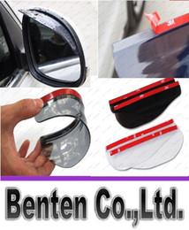 Flexible universal del coche del PVC Accesorios Espejo retrovisor de lluvia Sombra a prueba de lluvia Hojas trasero del coche del espejo de la ceja cubierta de la lluvia LLFA