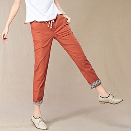 Discount Women Linen Pants Sale | 2017 Women Linen Pants Sale on ...
