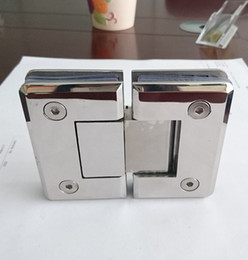 shower mirrors factory price ss 304 mirror 180 degree bevel shower door fitting glass clamp
