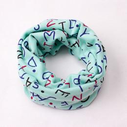 anillo de los nuevos niños de los bebés impresión de la historieta de las muchachas O bufandas del invierno del otoño de las bufandas de algodón suaves calientes Pañuelo cuello cómodo