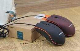 USB Mouse Óptico Mini 3D com fios ratinhos de jogos com caixa de varejo para computador Notebook Notebook Game Lenovo M20 Frete Grátis